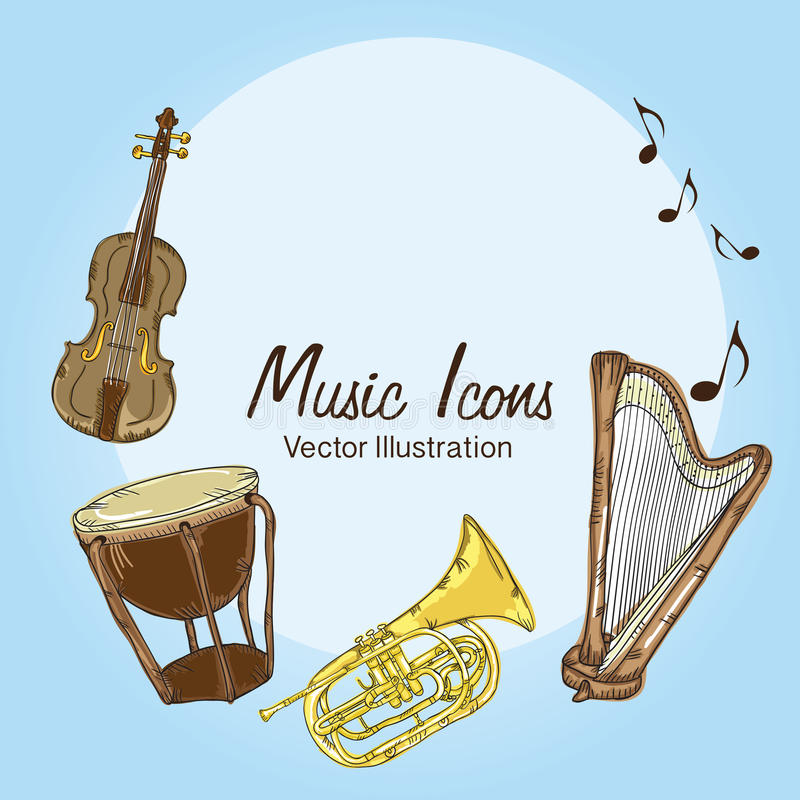 Download 音乐象 向量例证. 插画 包括有 乐趣, 古典, 招待, 设计, 艺术性, 艺术, 作用, 人们, 显示 - 30331240