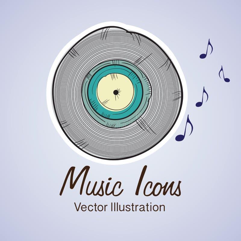 Download 音乐象 向量例证. 插画 包括有 对象, 显示, 迪斯科, 人们, 声音, 音乐会, 阶段, 古典, 颜色 - 30331569