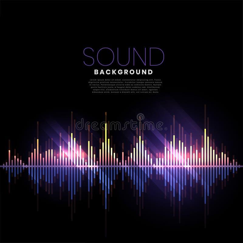 音乐轨道音频样式合理的背景 向量例证