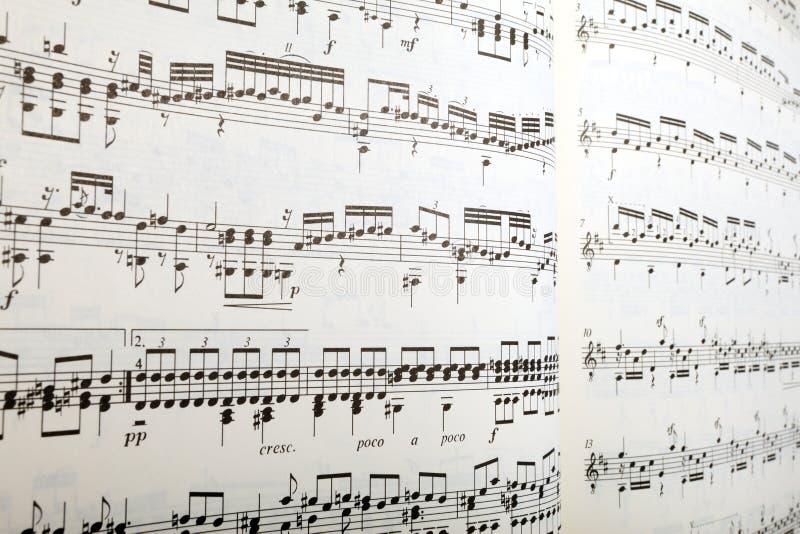 音乐透视图页 库存图片