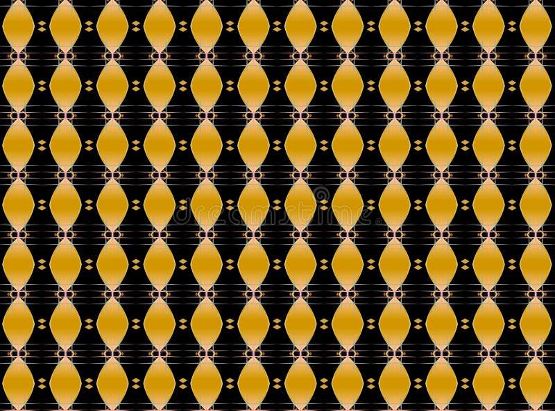 音乐金黄重复的样式 免版税图库摄影