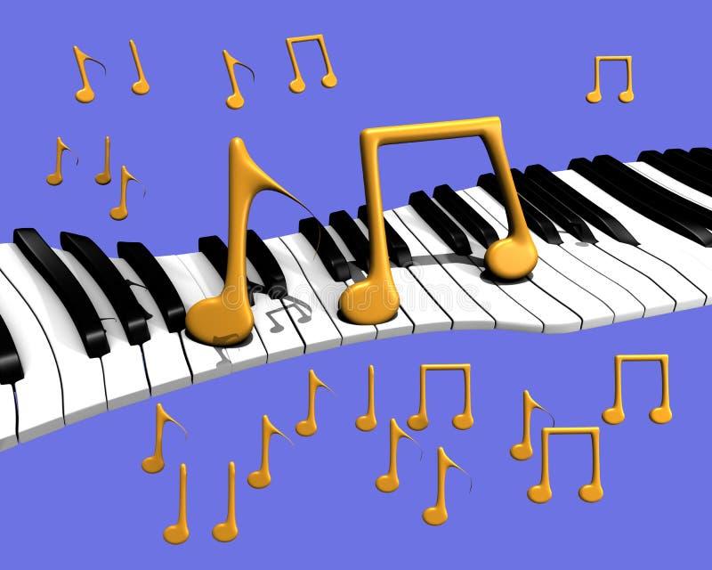 音乐钢琴 免版税库存照片