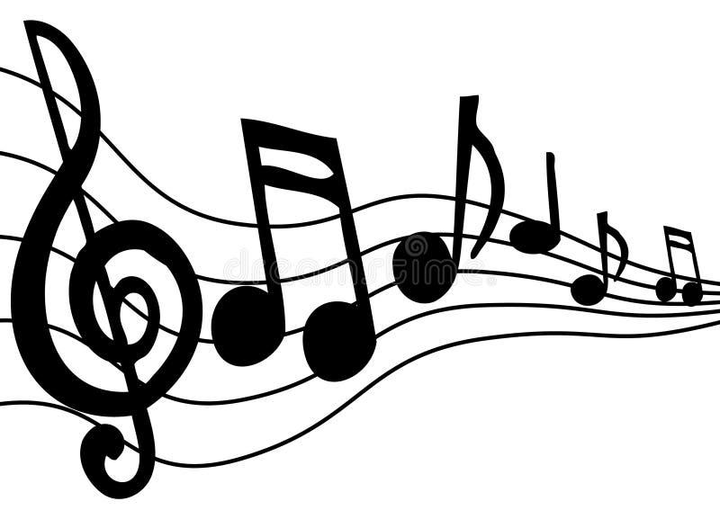 音乐附注 库存照片