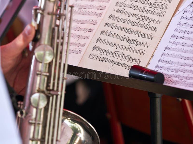 音乐附注 免版税图库摄影