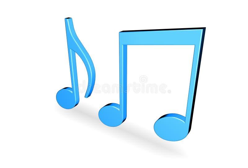音乐附注 向量例证