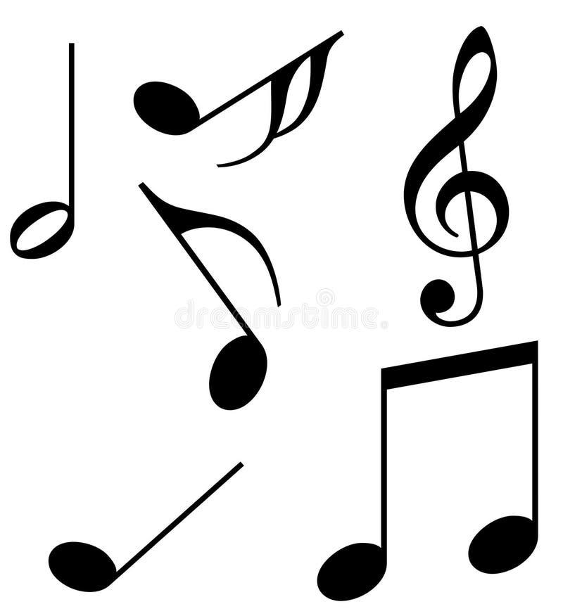 音乐附注 库存例证