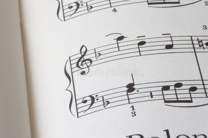 音乐页    免版税库存照片