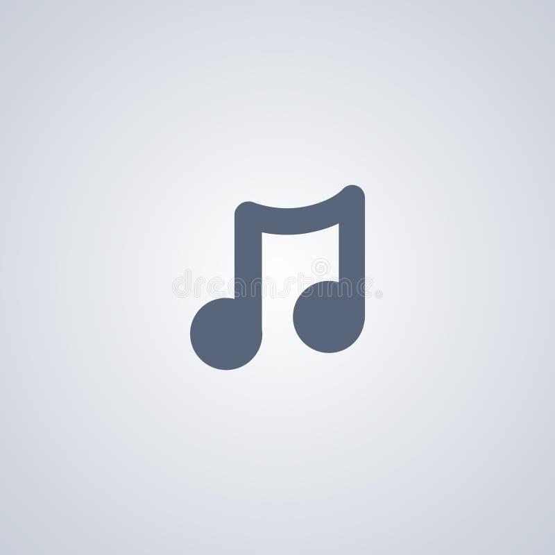 音乐,曲调,导航最佳的平的象 皇族释放例证