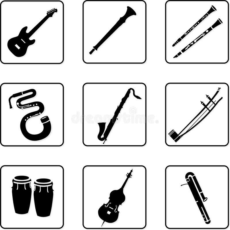 音乐2台的仪器 皇族释放例证