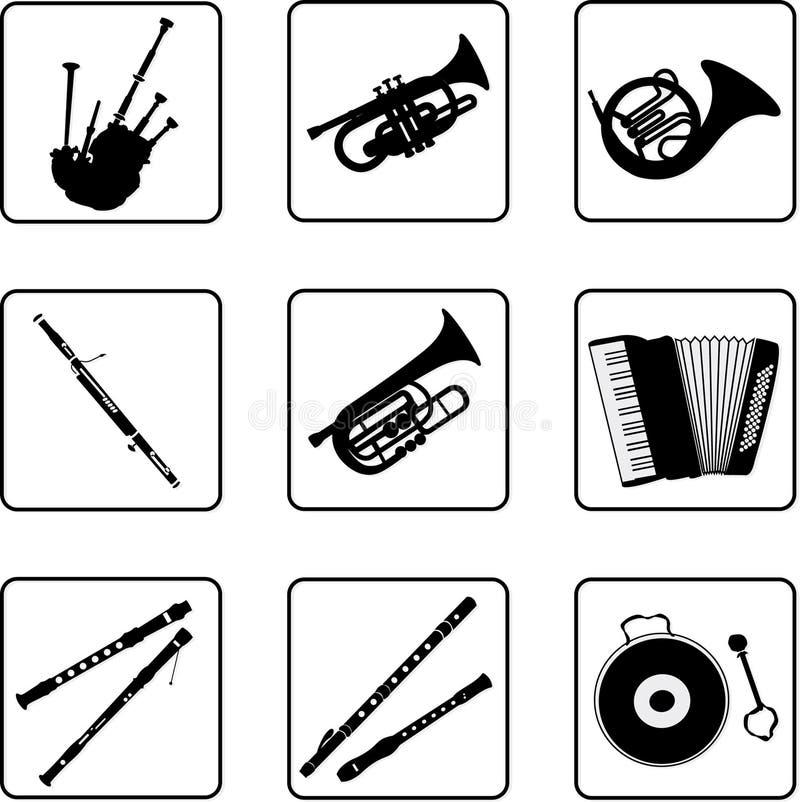 音乐3台的仪器 库存例证