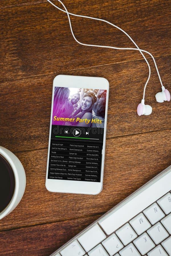 音乐app的综合图象 库存例证