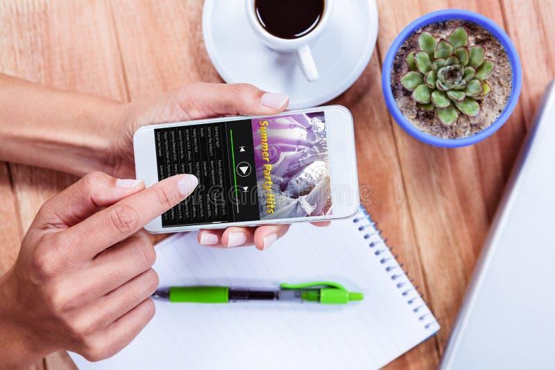 音乐app的综合图象 免版税图库摄影