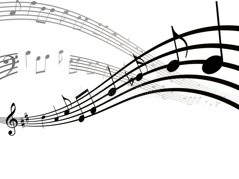 音乐apps和网站的音乐笔记、歌曲、曲调或者声调平的象 皇族释放例证