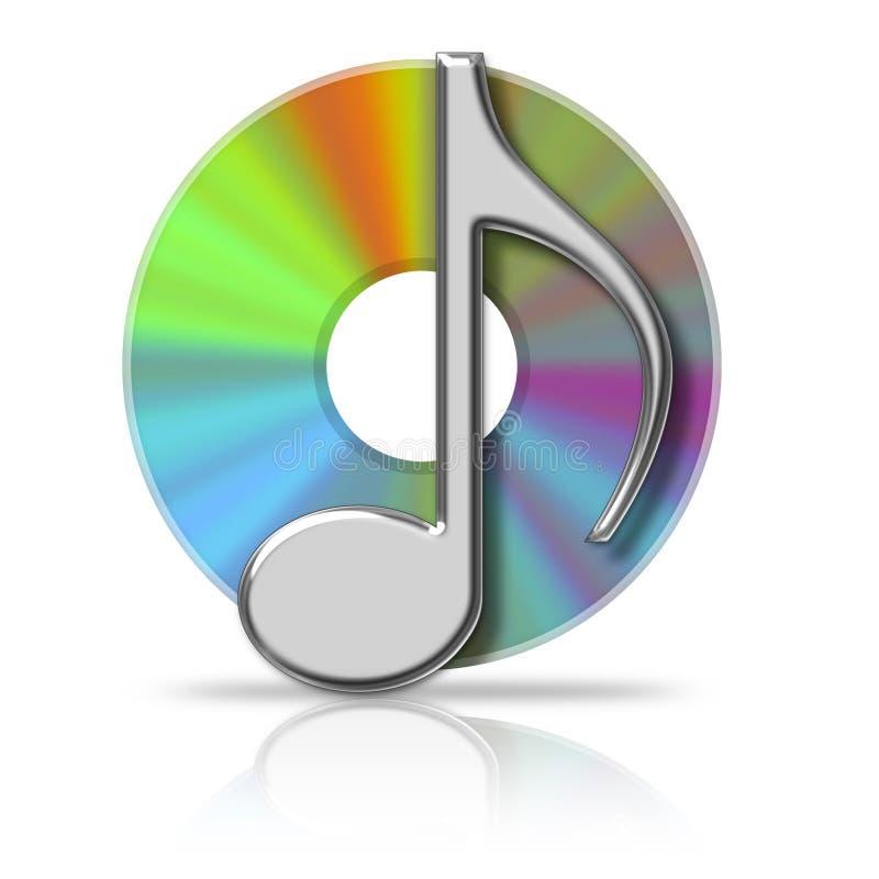 音乐cd 皇族释放例证