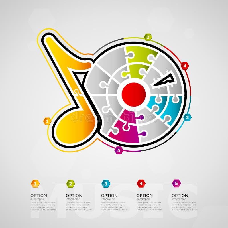 音乐infographics 皇族释放例证
