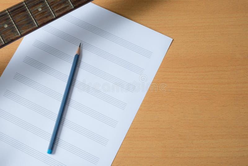 音乐paper.old音乐paper.grunge effect.musical背景 免版税库存图片