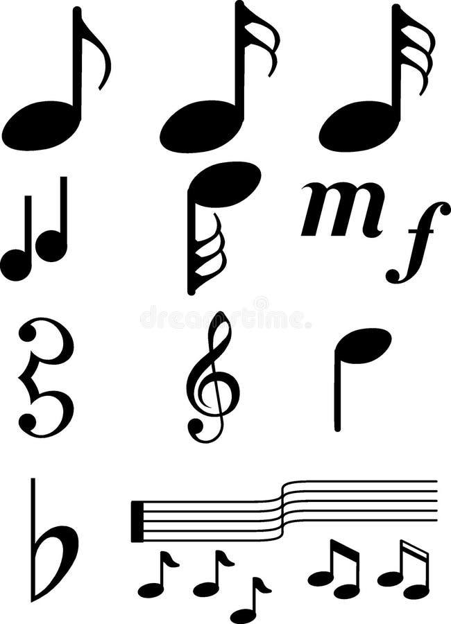 音乐symbols2 库存图片
