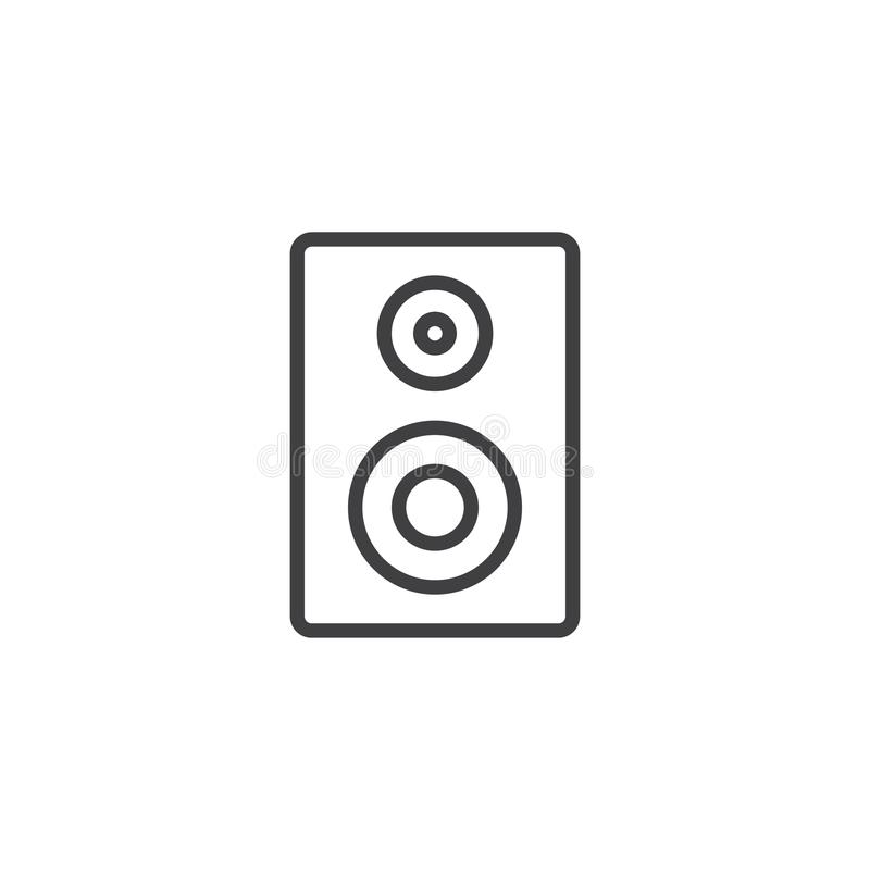 音响报告人线象 向量例证