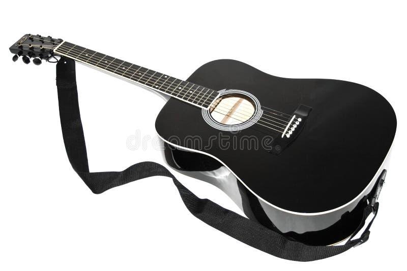 音响黑色颜色吉他 免版税库存图片