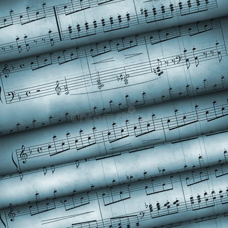 音符老卷 免版税图库摄影