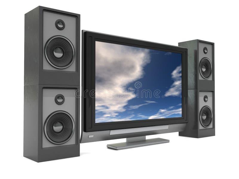 音象系统录影 库存例证