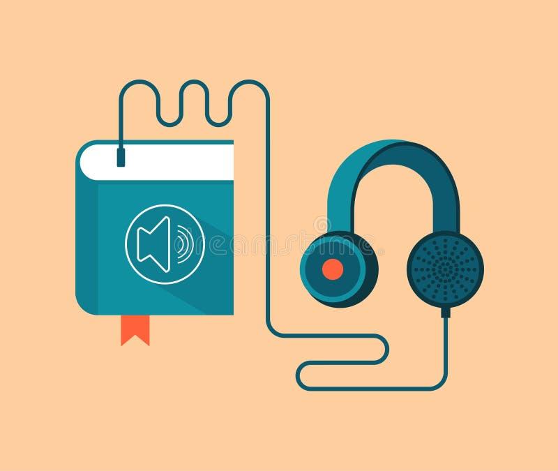音频书概念传染媒介例证 库存例证