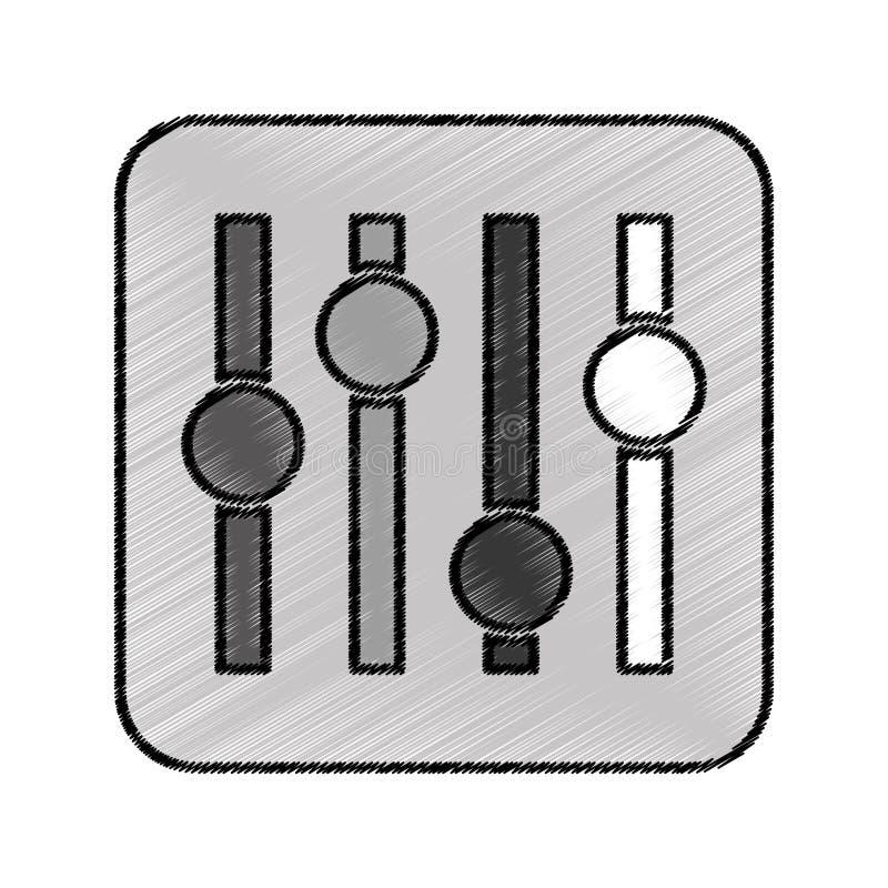 音频控制板象 皇族释放例证