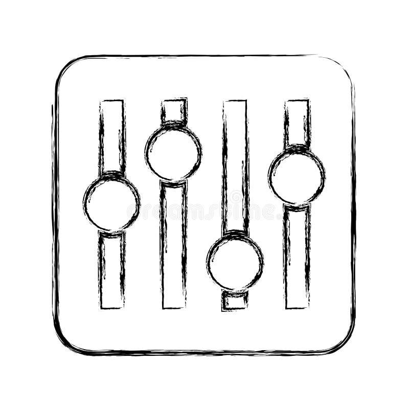 音频控制板象 库存例证