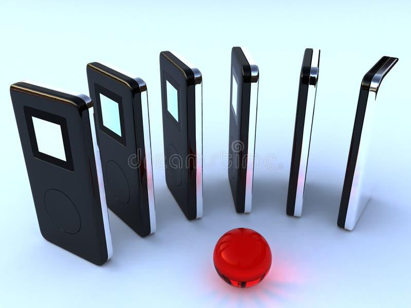 音频数字式MP3播放器 图库摄影
