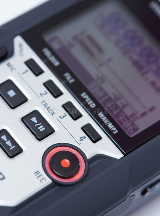 音频数字记录器 免版税库存照片