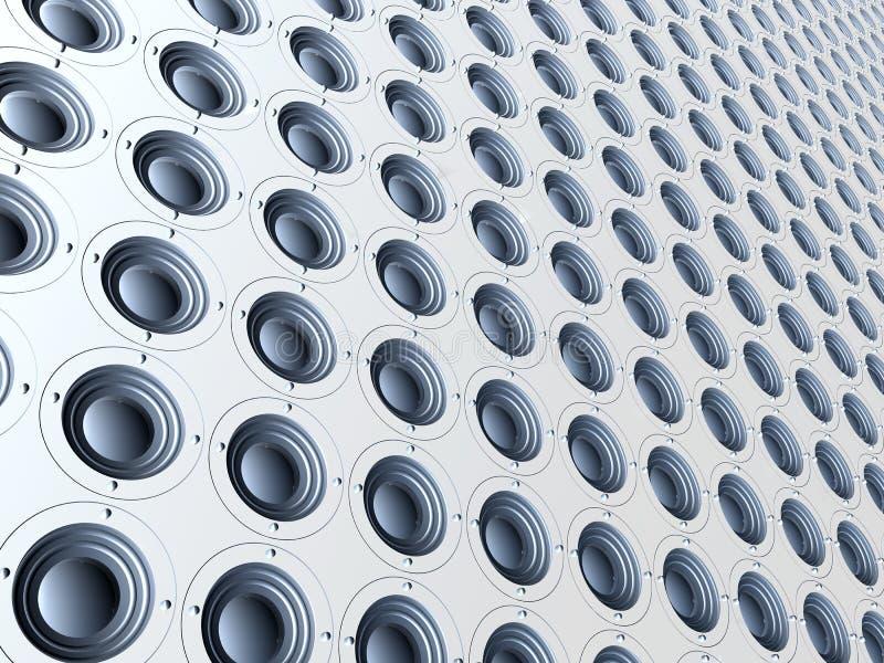 音频无限白色 向量例证