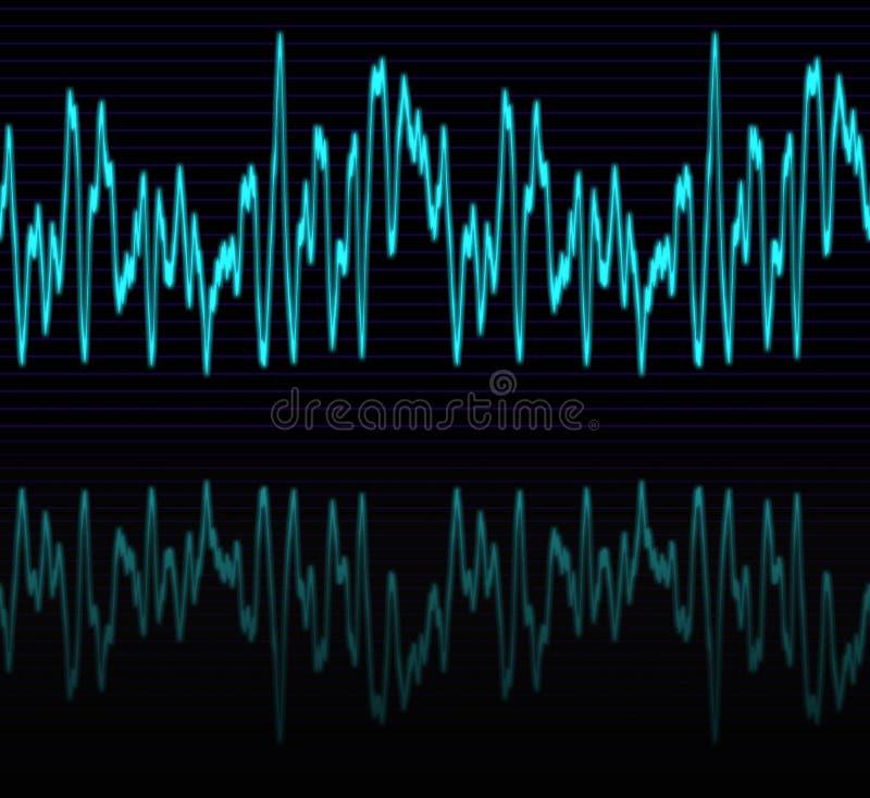 音频正弦声波 库存例证