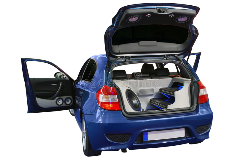 音频汽车系统 库存图片