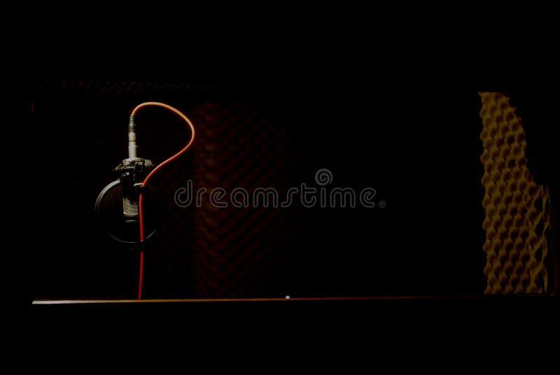 音频演播室 免版税图库摄影