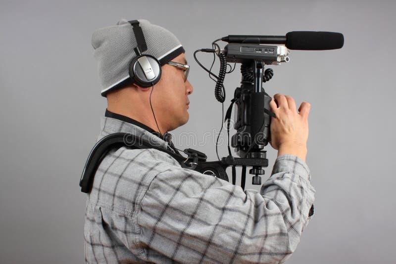 音频照相机设备hd人slr 免版税库存图片