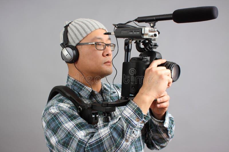 音频照相机设备hd人slr 免版税库存照片