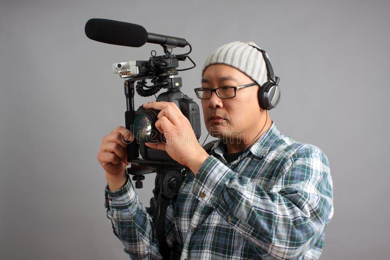 音频照相机设备hd人slr 免版税图库摄影