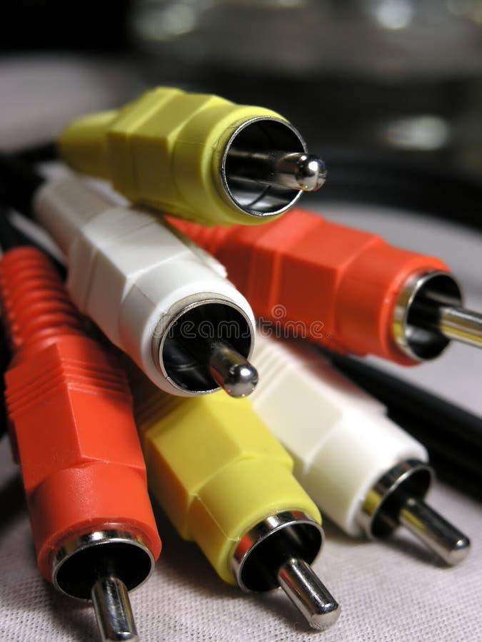 音频电缆录影 库存图片
