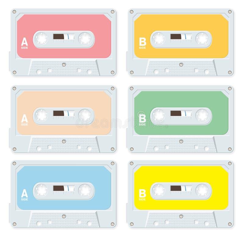 音频空白卡式磁带 皇族释放例证