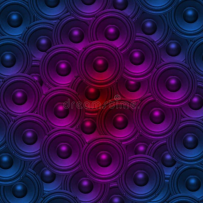 音频音乐报告人背景 库存例证
