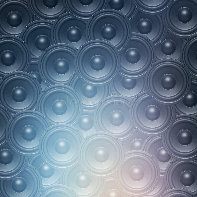 音频音乐报告人背景 向量例证