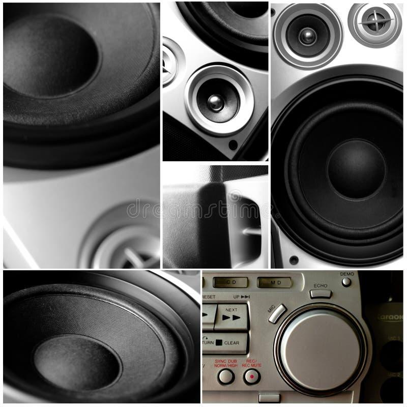 音频音乐系统 免版税库存图片