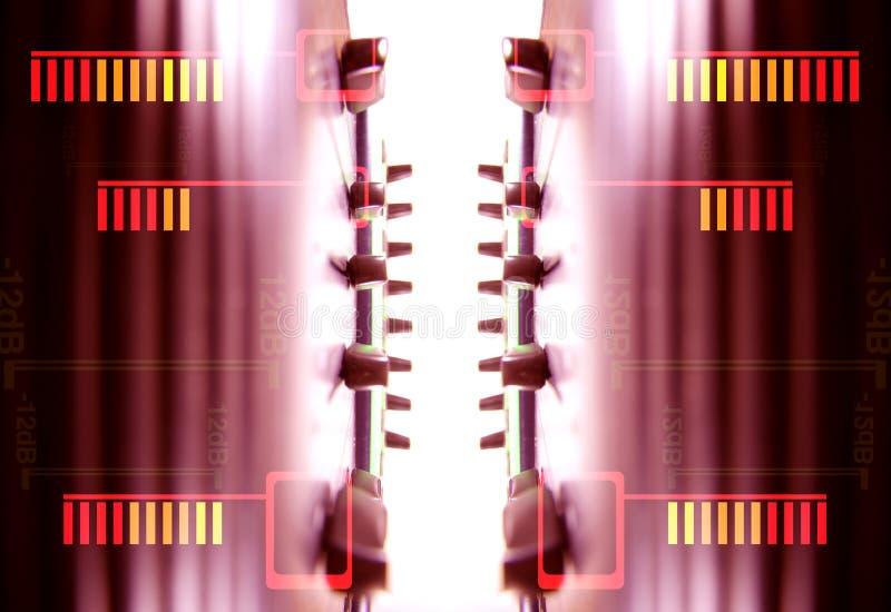 音频音量控制器模式 向量例证