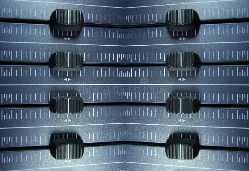 音频音量控制器模式 免版税库存图片