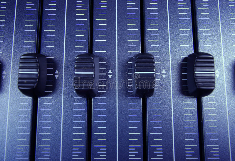 音频音量控制器 库存照片