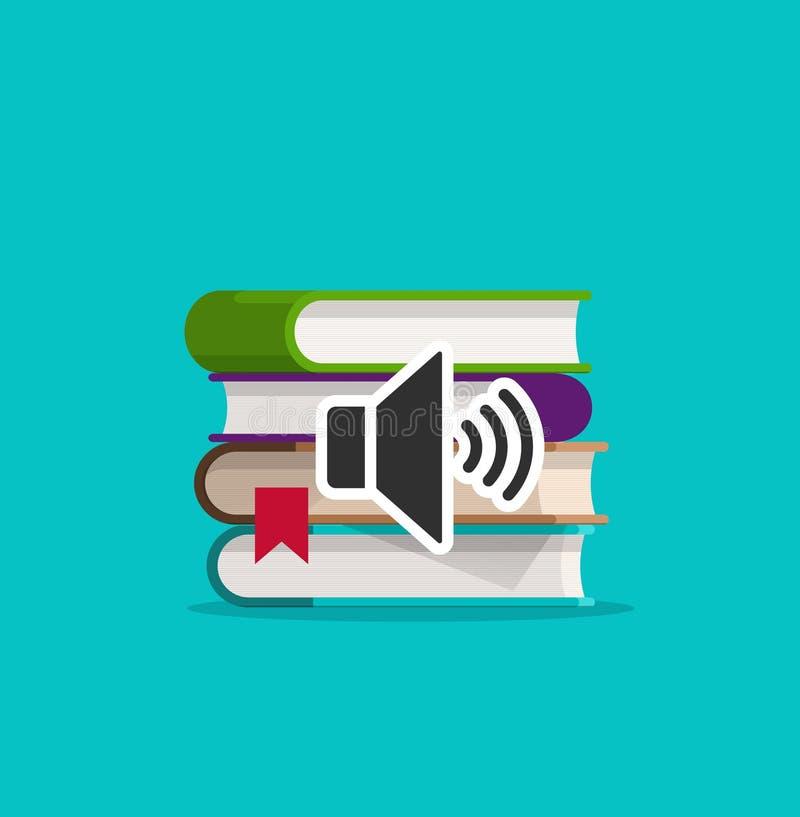 音频预定象传染媒介例证、平的动画片书架和声音象clipart 皇族释放例证
