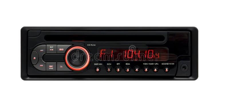 音频黑色汽车CD的MP3播放器wma 免版税库存图片