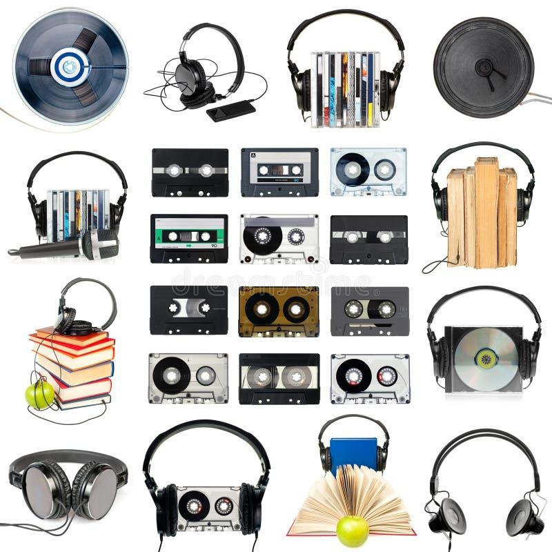 音频齿轮集 库存图片