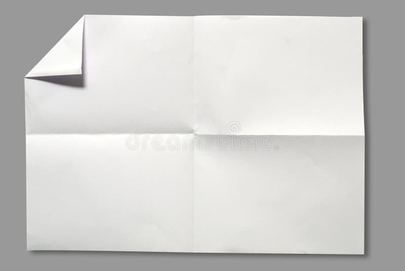 页纸白色 图库摄影