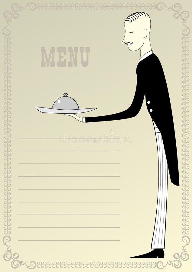 页餐馆菜单 皇族释放例证